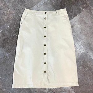 Vintage Khaki Skirt Straight Laura Scott 90s